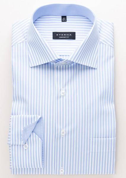 Eterna Comfort Fit 68cm Extra Lang hellblau-weiß