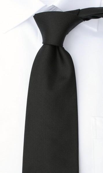 LEONARDUS Uni Krawatte Reine Seide schwarz