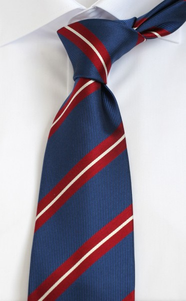 ALTEA Krawatte Extra Lang blau rot gestreift