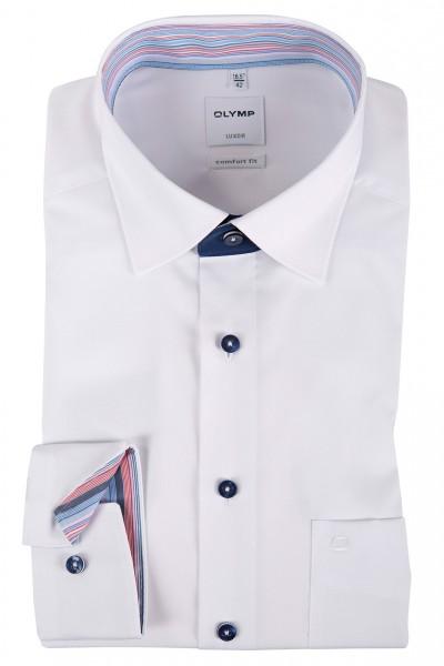 OLYMP Comfort Fit Hemd 69 cm EXTRA LANG weiß