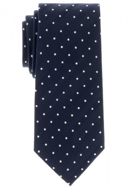 ETERNA Krawatte dunkelblau mit Tupfen silberweiß