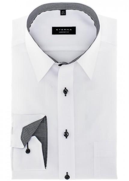 Eterna Hemd Comfort Fit 68 cm Extra Lang weiß