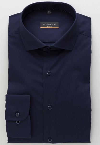 Eterna Hemd dunkelblau Slim mit Hai Kragen