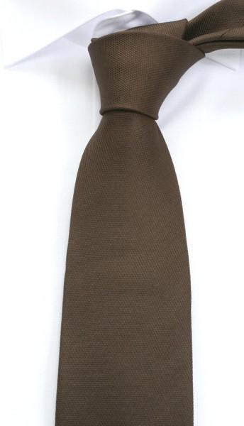 ETERNA Uni Krawatte Reine Seide dunkelbraun