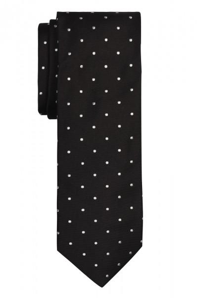 ALTEA Krawatte schwarz mit Tupfen weiß