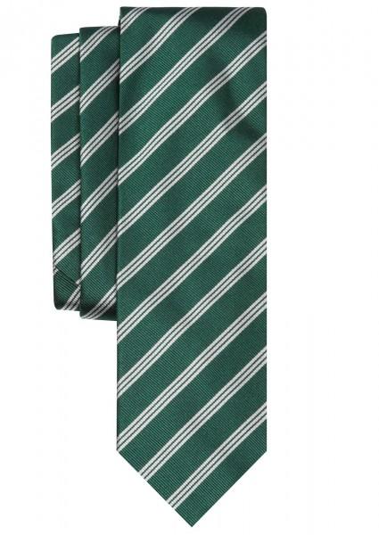 ALTEA Streifen Krawatte Reine Seide grün