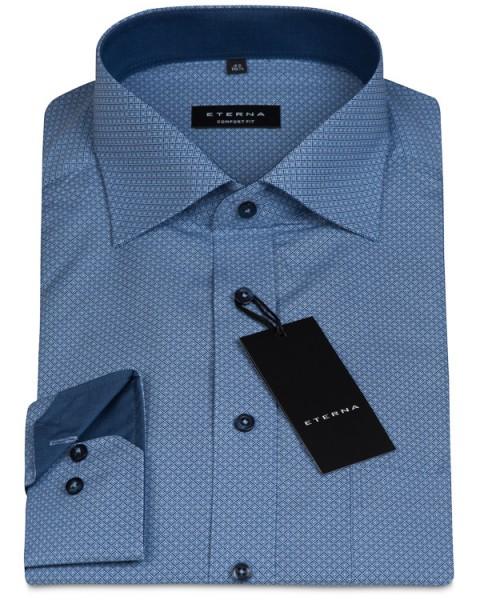 Eterna Comfort Fit 68cm Extra Lang blau gemustert