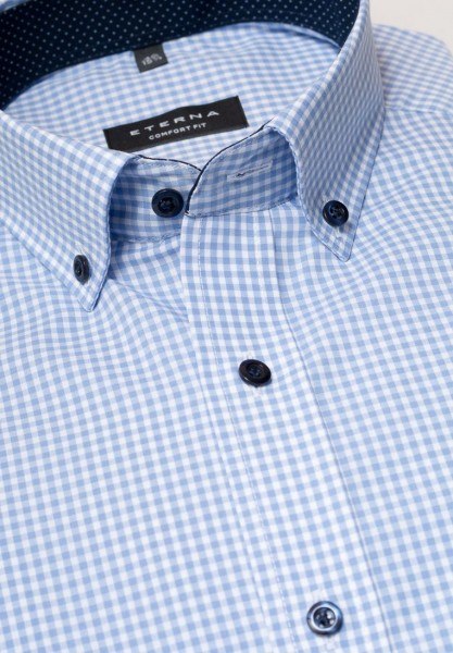 ETERNA Comfort 68 Extra Lang Button-Down hellblau