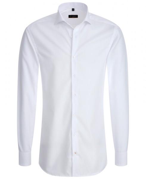 Eterna Slim Fit Popeline Langarmhemd weiß