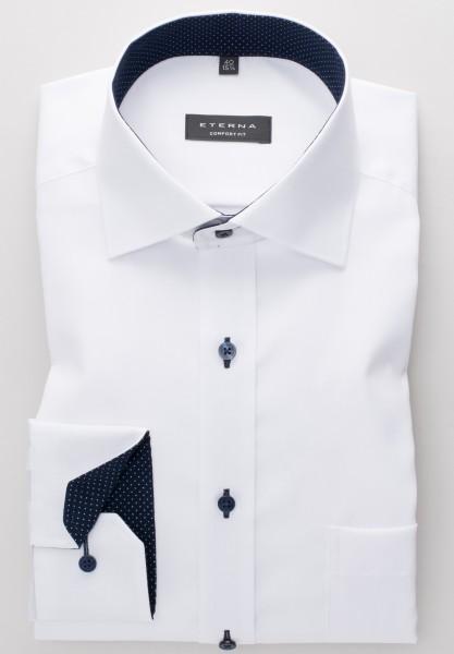 ETERNA Comfort Fit Hemd Mix-Match Oxford weiß