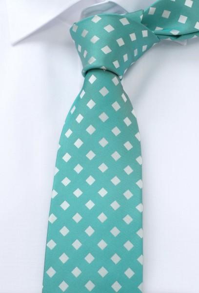 ETERNA Krawatte Extra Lang mintgrün weiß