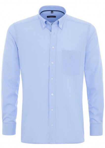 ETERNA Modern Fit 72 cm Button-Down-Kragen hellblau