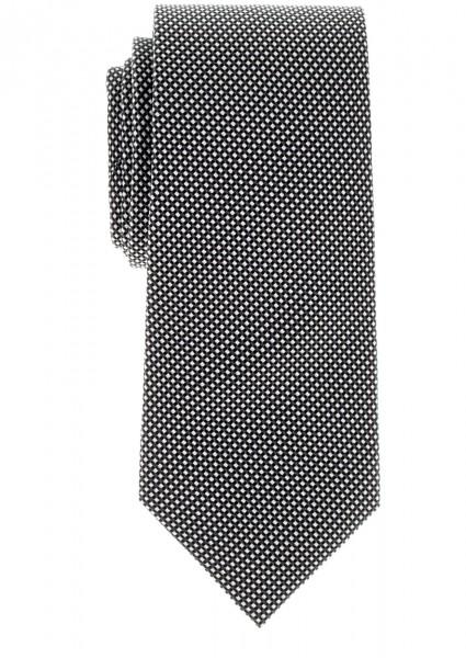 ETERNA Krawatte Mikrokaro schwarz silber