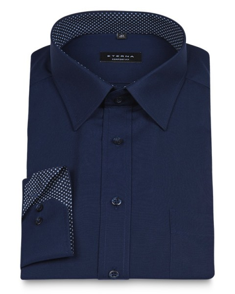 ETERNA Comfort Fit Shirt 72 cm Superlang marine