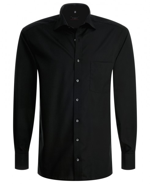Eterna Langarmhemd schwarz