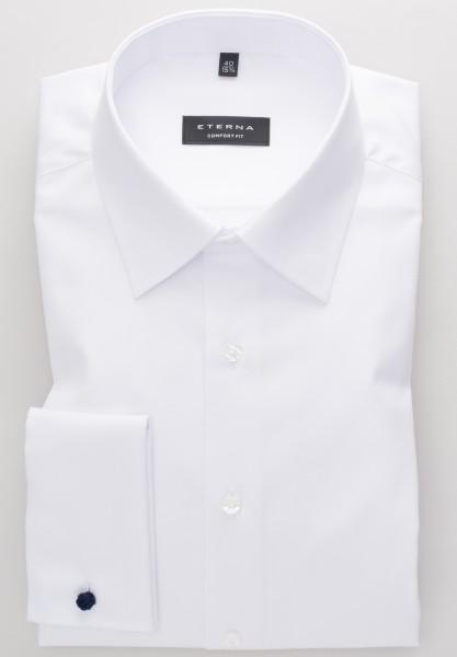 ETERNA Comfort Fit Hemd mit UMSCHLAGMANSCHETTE weiß
