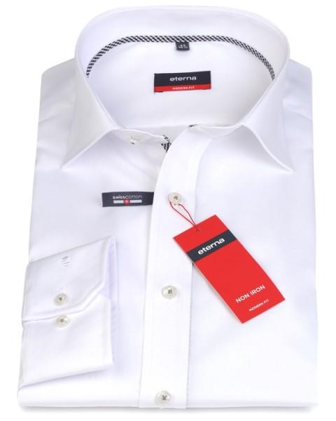 Eterna Hemd Modern Fit 72 cm weiß mit schwarz