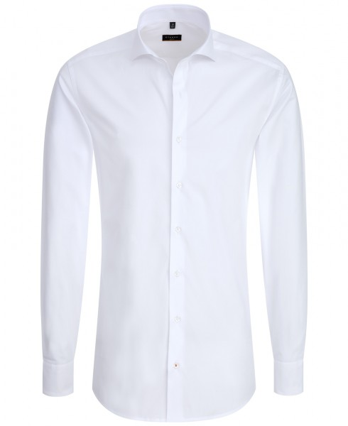 ETERNA Slim Fit Hemd 72 cm Super Lang Uni weiß