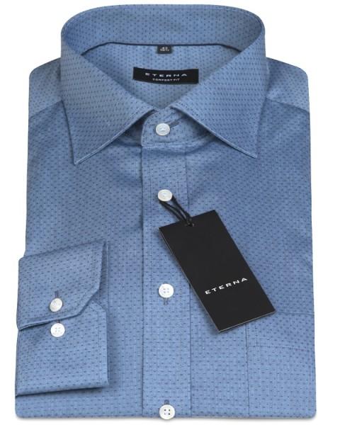 Eterna Hemd Comfort Fit 68cm Extra Lang blau