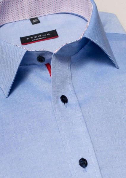 Eterna Hemd Modern Fit 72cm Superlang blau mit rot
