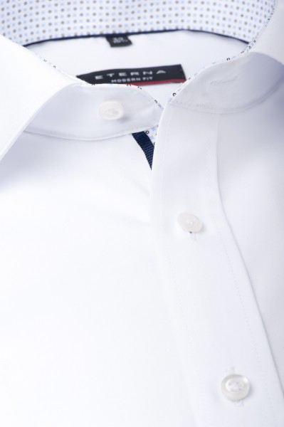 ETERNA Modern Fit 72 cm Uni Chambray weiß