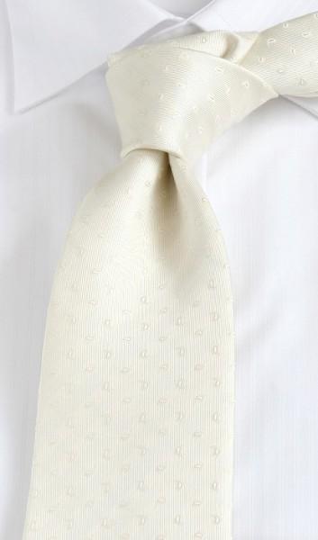 PELO Krawatte Extra Lang Paisley champagner