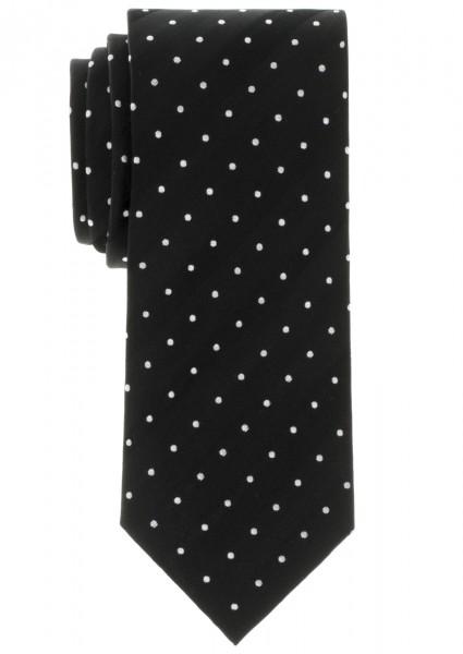 ETERNA Krawatte schwarz mit Tupfen silberweiß