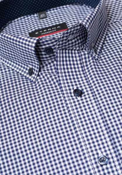 ETERNA Hemd Modern Fit 72 cm Karo Button-Down