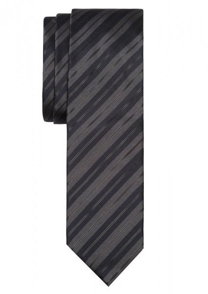 ALTEA Krawatte Extra Lang Streifen dunkelblau grau