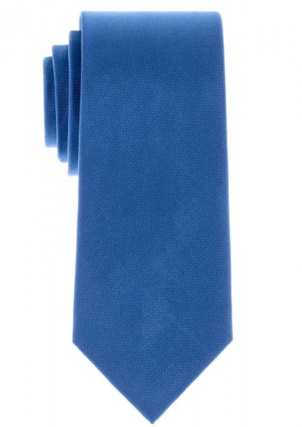 ETERNA Uni Krawatte Reine Seide mittelblau
