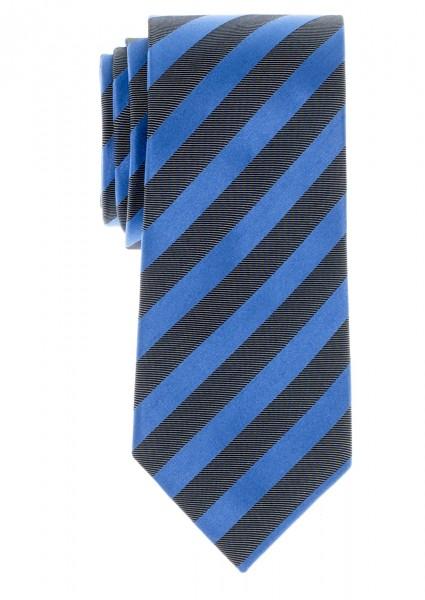ETERNA Krawatte Reine Seide blau silbergrau