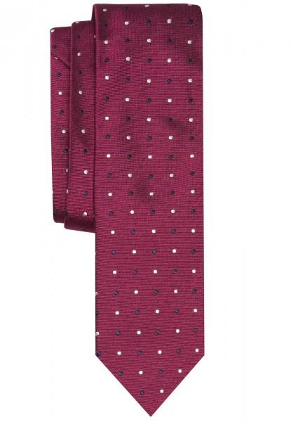 ALTEA Krawatte Extra Lang violett mit Tupfen
