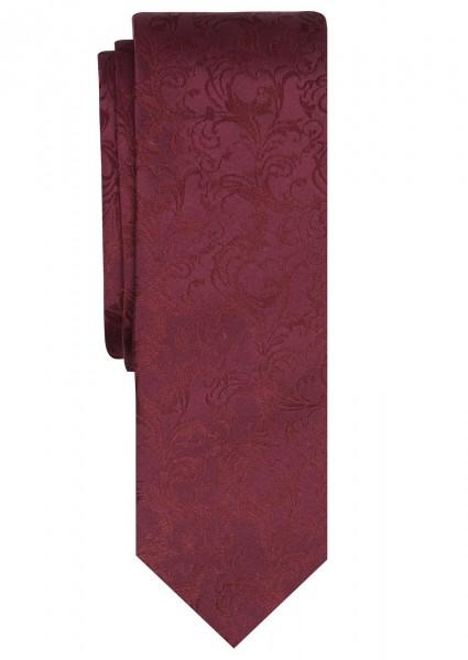 ETERNA Jacquard Krawatte Extra Lang dunkelrot