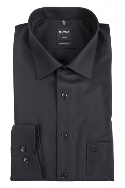 OLYMP Modern Fit Hemd 72 cm SUPER LANG schwarz