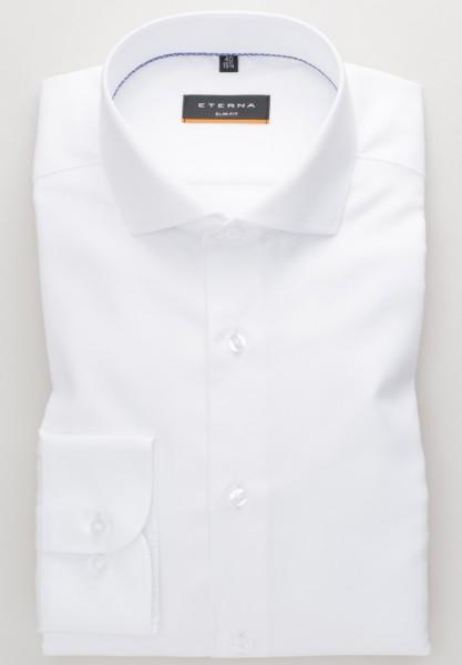 ETERNA Slim Fit Hemd 72 cm Super Lang weiß
