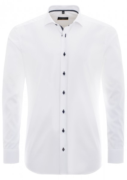 Eterna Slim Fit Uni Stretch bügelfrei weiss