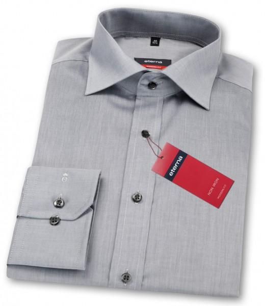 Eterna Hemd Modern Fit 68cm Extra Lang grau