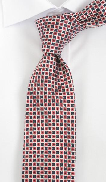 ALTEA Krawatte Reine Seide rot blau weiß