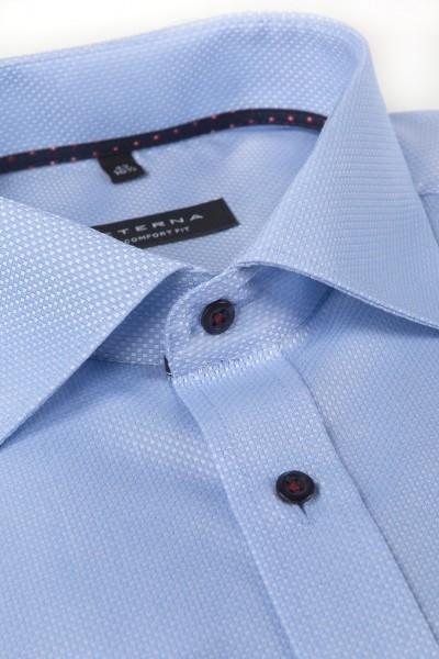 Eterna Comfort Fit 68 cm Extra Lang hellblau strukturiert