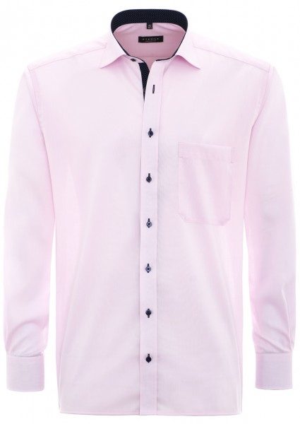 Eterna Comfort Fit Langarmhemd rosa mit Patch