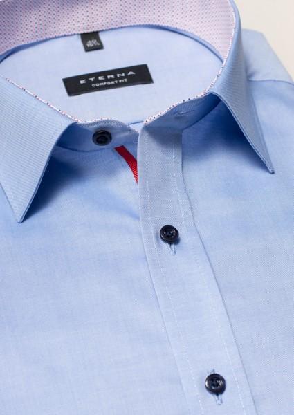 ETERNA Hemd Comfort Fit 72 cm Super Lang blau rot