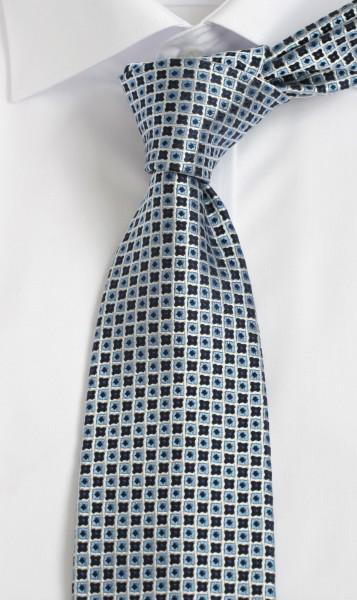 ALTEA Krawatte Reine Seide blau weiß