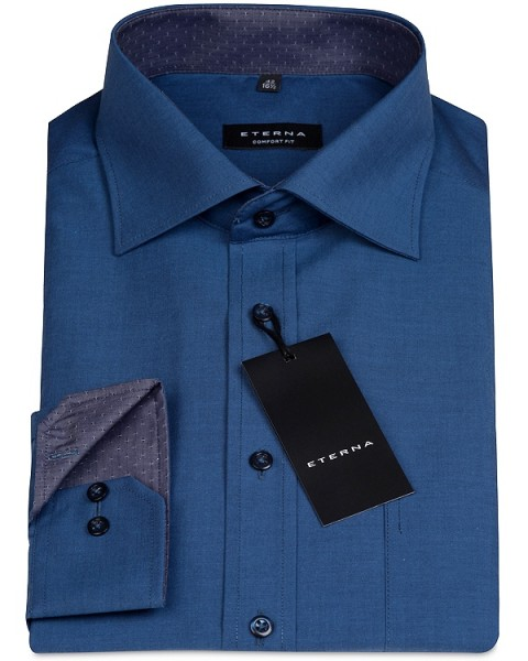 ETERNA Comfort Fit Hemd 72 cm Super Lang dunkelblau
