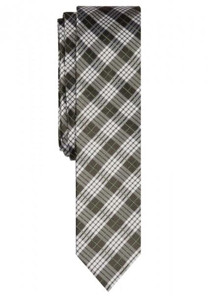 ETERNA Krawatte mit Karomuster grün grau weiß