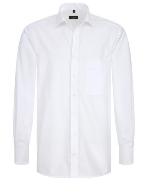 Eterna Comfort Fit Langarmhemd Kent-Kragen weiß