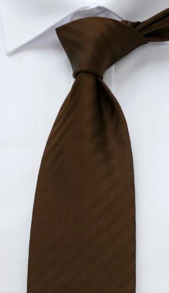 ALTEA Uni Krawatte Extra Lang dunkelbraun