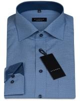 ETERNA Hemd Comfort Fit 72 cm PRINT blau
