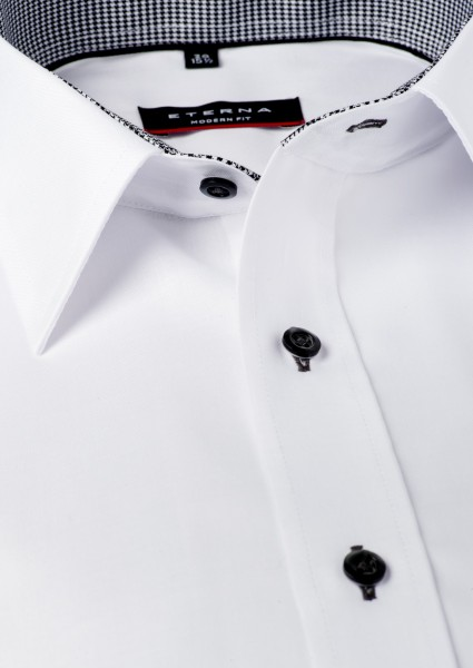 Eterna Hemd schwarz weiß 72 cm extra lang