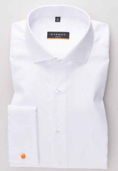 ETERNA Slim Fit Hemd mit UMSCHLAGMANSCHETTE weiß