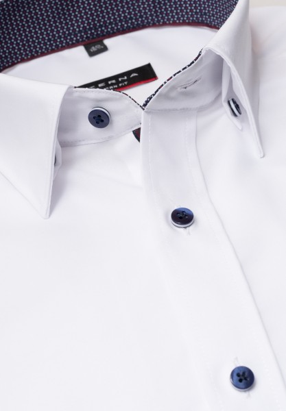 Eterna Hemd Modern 68 cm Extra Lang weiß mit Patch